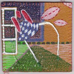 5e vinyl tegel 2012 van Ann Hoogendoorn - beeldend kunstenaar