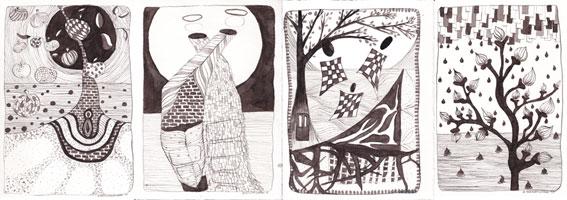 Oost-Indische tekeningen van Ann Hoogendoorn - Beeldend Kunstenaar